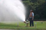 Flusing Out Fire Hydrant and Discolored Water